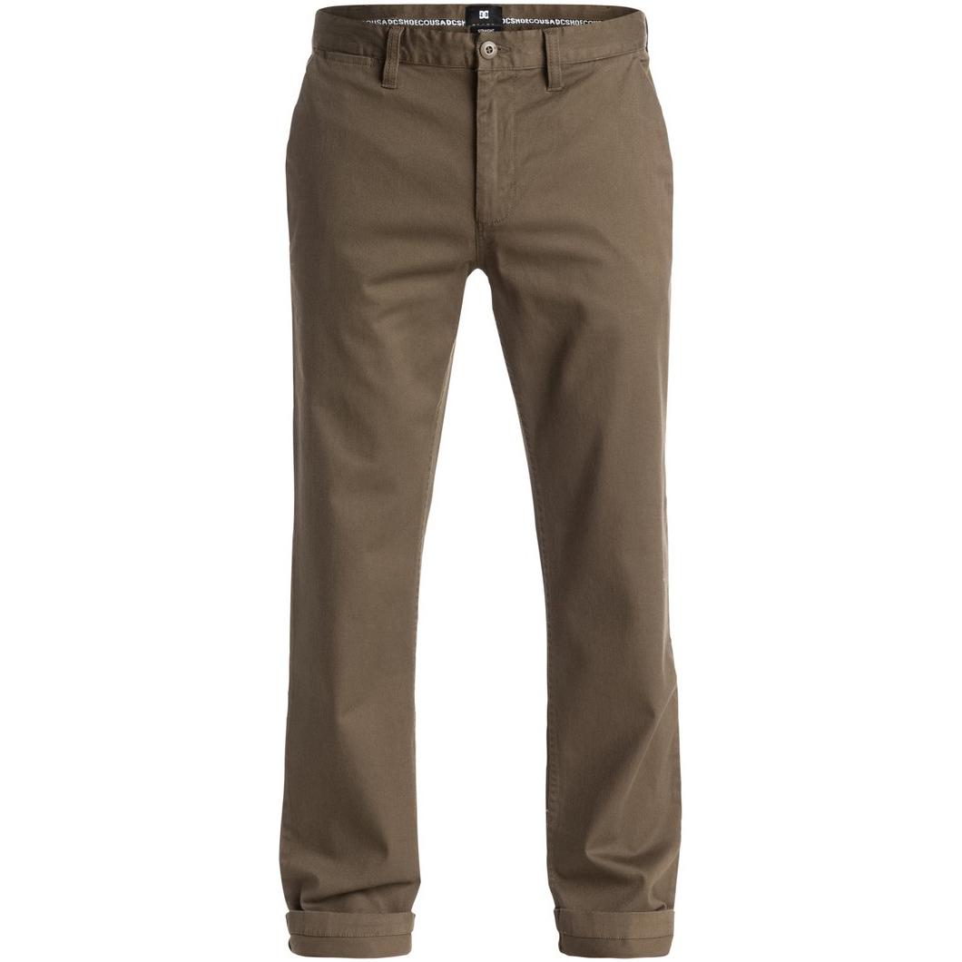 Sale WRK STR CHINO M NDPTДжинсы и Брюки<br>Классические чиносы прямого кроя для тех, кому надоели зауженные брюки скинни. DCWorkerStraight готовы с легкостью стать основой повседневного лука не только для учебы или работы, но и для катания на скейтборде, так как выполнены из слегка эластичной ткани с добавлением эластана, которая не стеснит движений.<br> <br> <br> Особенности:<br><br>Чиносы<br>Прямой крой<br><br>Ширинка на молнии<br><br>Косые карманы для рук<br><br>Задние карманы на пуговице<br><br>Тканый логотип над задним карманом<br><br>Состав: 92% хлопок, 2% эластан.<br><br>Сезон: SS<br>Артикул: 52130<br>Цвет: Taupe<br>Пол: МУЖ<br>Пол: Мужcкое<br>Размер: 32<br>Тип вещи: БРЮКИ