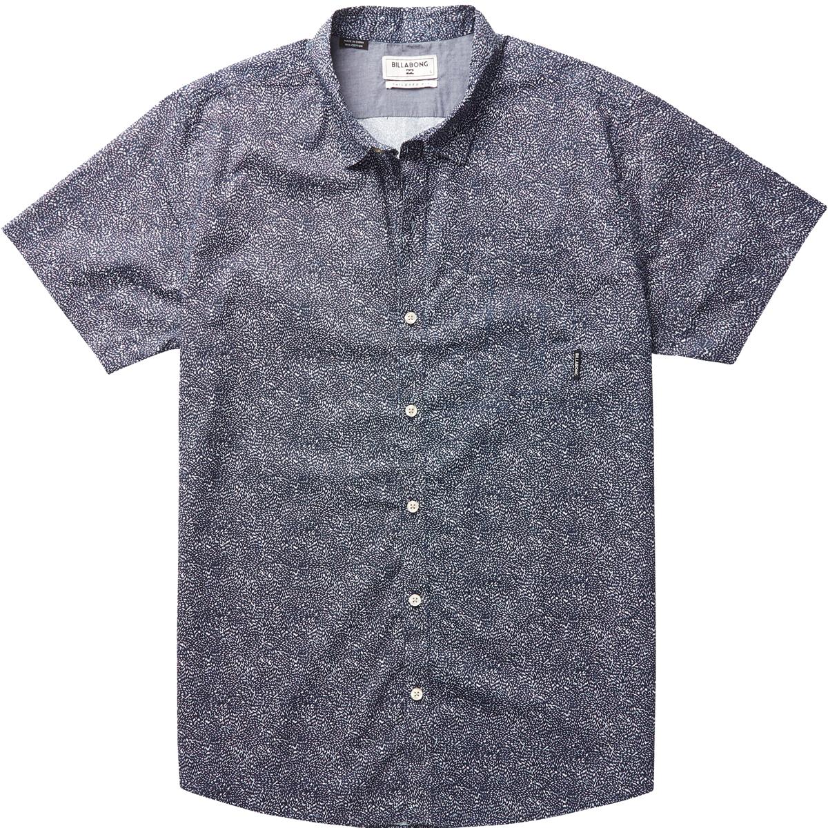 New DARK SUNRISE  SSРубашки<br>Современный подогнанный крой этой рубашки от Billabong сделает ее ношение максимально комфортным. Короткие рукава, карман на груди, нейтральные принты - ее можно использовать в самых разных ситуациях, и везде она будет уместна и удобна.<br> <br> <br> Особенности:<br><br>Мужская рубашка<br><br>Современный приталенный крой<br><br>Нагрудный карман<br><br>Детали из хлопка шамбре<br><br>Этикетка с логотипом на кармане<br><br>Состав: 100% хлопок.<br><br>Сезон: SS17<br>Артикул: 67204<br>Цвет: NAVY<br>Пол: МУЖ<br>Пол: Мужcкое<br>Размер: M<br>Тип вещи: РУБАШКА
