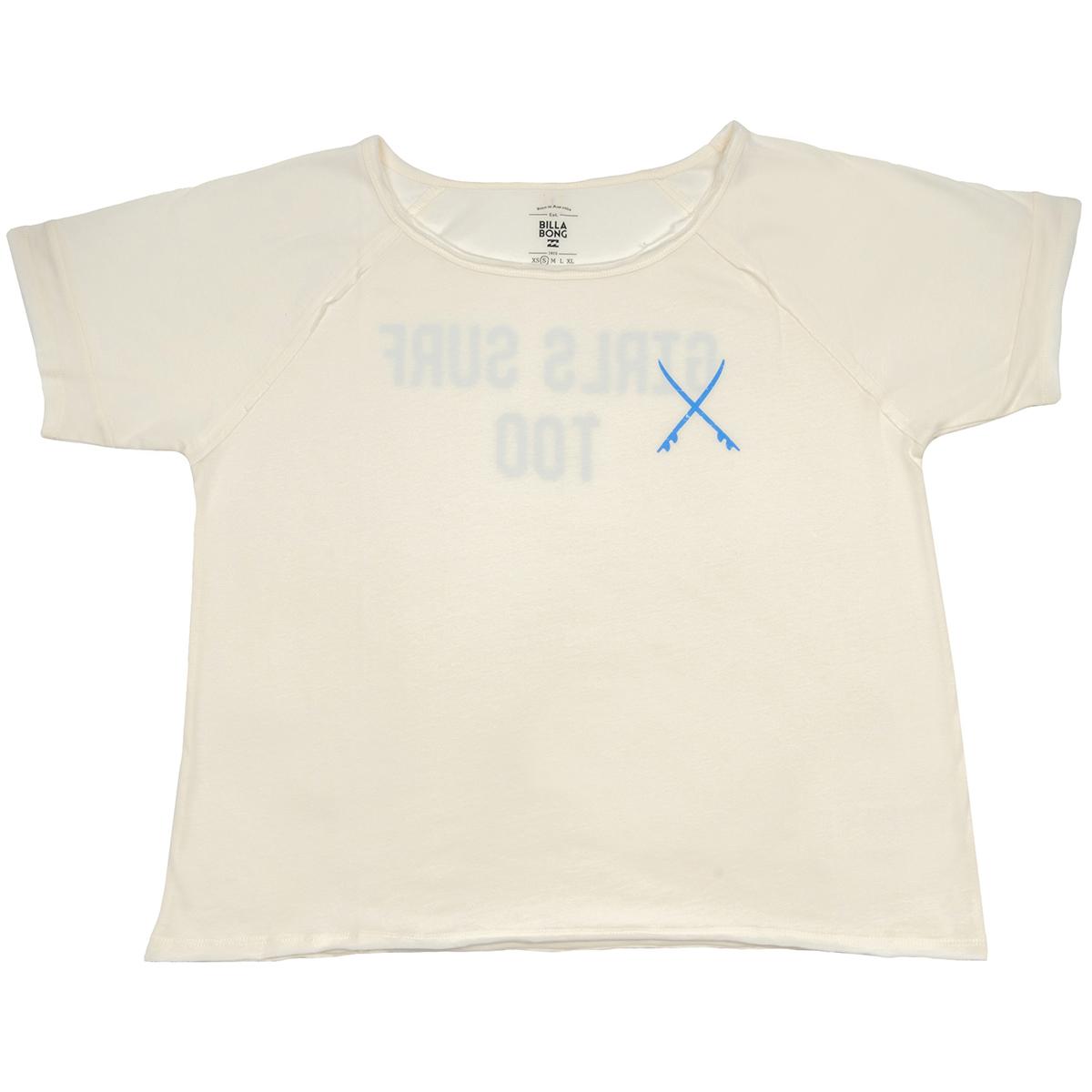 New BRIGHT SIDEФутболки и Поло<br>Эта стильная футболка от Billabong с открытым воротом отлично подойдет тем девушкам, которые не любят сидеть без дела. Она привнесет в Ваш образ активный и готовый к приключениям дух, так что будьте готовы отправиться в путь в любую секунду. Необработанные края, круглый ворот и короткий рукав, принт на груди и на спине - да она просто совершенна!<br> <br> <br> Особенности:<br><br>Женская футболка<br><br>Классический крой<br><br>Удлиненные рукава реглан<br><br>Принт на груди<br><br>Большой принт на спине<br><br>Необработанные края<br><br>Состав: 100% хлопок.<br><br>Сезон: SS17<br>Артикул: 67277<br>Цвет: COOL WIP<br>Пол: ЖЕН<br>Пол: Женское<br>Размер: XS<br>Тип вещи: ФУТБОЛКА