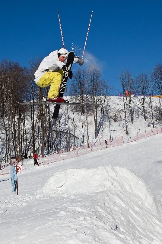 горные лыжи трюки