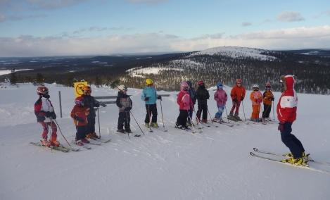 катание н лыжах