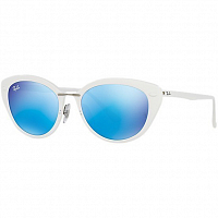 Ray Ban 0RB4250 SHINY WHITE/GREEN MIRROR BLUE