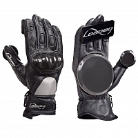 Loaded Loaded Leather Race Gloves Gray / Black