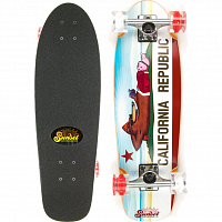 SUNSET SKATEBOARDS CALIFORNIA BEAR SS Red/White