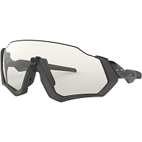 Oakley FLIGHT JACKET Grey Ink/Clear Blk IRD PHOTO Activated