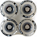 Колеса BUSTIN Five-O Wheels White Print - Stone Ground Contact Patch - Black C