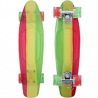 SUNSET SKATEBOARDS RASTA GRAPHIC COMPLETE 22 SS15 YELLOW DECK - RED/GREEN WHEELS