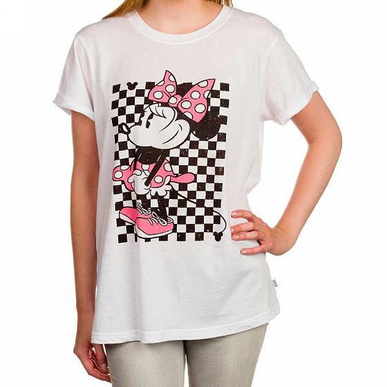 Футболка VANS MINNIE ROCKER TEE FW16 от Vans в интернет магазине www.traektoria.ru - 2 фото
