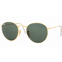 RAY BAN ROUND METAL A/S ARISTA/CRYSTAL GREEN