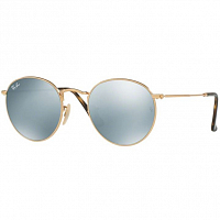 RAY BAN ROUND METAL A/S SHINY GOLD/GREY FLASH