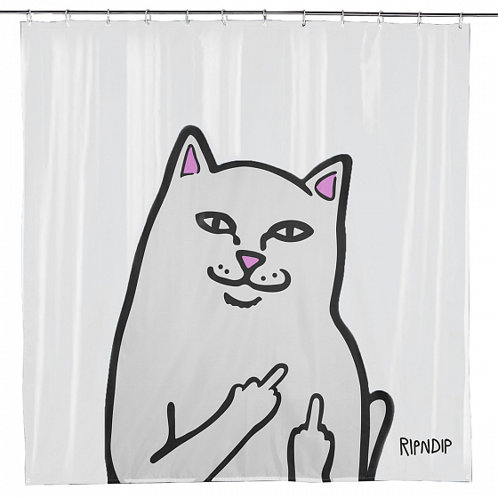 Аксессуар RIPNDIP LORD NERMAL SHOWER CURTAIN SS19 от RIPNDIP в интернет магазине www.traektoria.ru -  фото