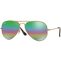 RAY BAN AVIATOR LARGE METAL A/S METLALLIC MEDIUM BRONZE/light grey mirror rainbow