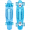 SUNSET SKATEBOARDS OCEAN COMPLETE 22 SS AQUA BLUE DECK - AQUA BLUE URETHANE WHEELS