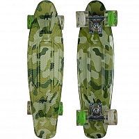 SUNSET SKATEBOARDS CAMO GRAPHIC COMPLETE 22 SS15 GREEN CAMEO DECK- WHITE/GREEN WHEELS