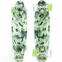 SUNSET SKATEBOARDS CAMO GRIP COMPLETE 22 SS15 GREEN CAMO DECK-WHITE/GREEN WHEELS