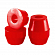 Бушинги GULLWING GULLWING BUSHING PACK 3 CONE/CONE RED