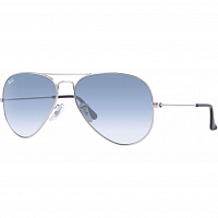 Ray Ban AVIATOR LARGE METAL SILVER/CRYSTAL GRADIENT LIGHT BLUE