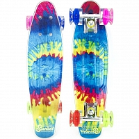 SUNSET SKATEBOARDS TIE DYE GRIP COMPLETE 22 SS15 TIE DYE DECK- BLUE/GREEN/RED/PINK WHEEL