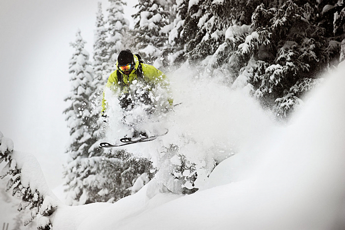 экстрим на горных лыжах